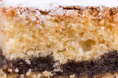 Grandmothers cake with poppy seed and shugar Royalty Free Stock Photography