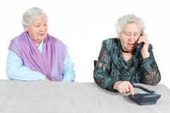 Grandmothers are calling Royalty Free Stock Images
