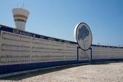 Grandola vila morena. A view of the monument at the portuguese revolution in Grandola Stock Image