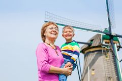 Grandother and grandson in Holland Royalty Free Stock Photography