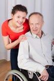 Grandpa και εγγονή χαμόγελου Στοκ Εικόνα