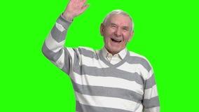 Grandpa που γελά στο nonesense, σε αργή κίνηση απόθεμα βίντεο
