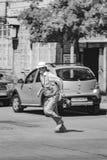 Grandpa идет путь стоковая фотография