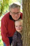 Grandpa с внуком Стоковое Изображение