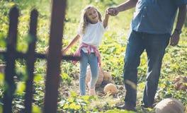 Grandpa, я наслаждаюсь с вами когда мы в сельской местности стоковые изображения