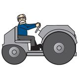 Grandpa. An old man driving his farming truck Royalty Free Stock Image
