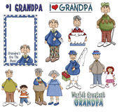 Grandpa Clipart Royalty Free Stock Photography