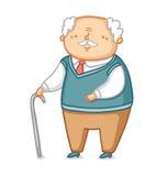 Grandpa. Cute little grandpa vector illustration stock illustration
