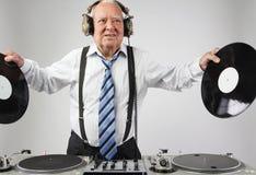 Grandpa DJ Στοκ εικόνες με δικαίωμα ελεύθερης χρήσης