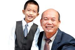 Grandpa e neto imagem de stock