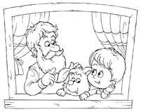 Grandpa e nipote Immagini Stock