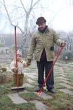 Grandpa e nipote esterni Immagine Stock