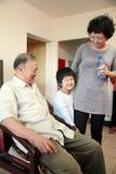 Grandpa e sua neta. Imagem de Stock