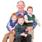 Grandpa felice fotografie stock libere da diritti