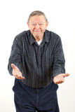 Grandpa felice con le braccia aperte Fotografie Stock Libere da Diritti