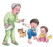 Grandpa Forgetful illustrazione vettoriale