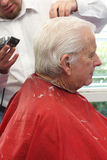 Grandpa gets a haircut Royalty Free Stock Images