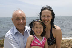 Grandpa and grand daughters Royalty Free Stock Image