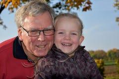 Grandpa with grandchild Royalty Free Stock Photos