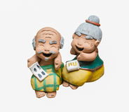 Grandpa and grandma baked doll Royalty Free Stock Photography