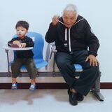 Grandpa and grandson Royalty Free Stock Photography