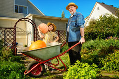 Grandpa and grandson Royalty Free Stock Images