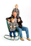 Grandpa with Grandsons Stock Photography