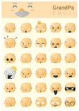 Grandpa imoji icons Royalty Free Stock Image
