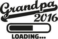Grandpa 2016 loading. Bar vector stock illustration