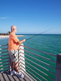 Grandpa Loves to Fish Stock Photography
