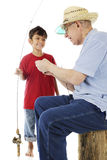 Grandpa and Me Go Fishing stock photo