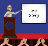 Grandpa My Story Illustration Royalty Free Stock Image