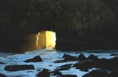 Grandpa's door. This large rock almost looks like heaven's door Stock Image