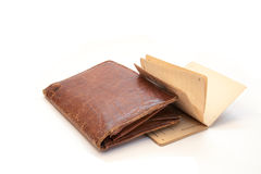 Grandpa's old wallet Stock Photos