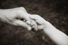 grandparent внучат вручает удерживание стоковое фото