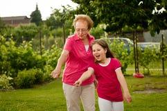 Grandparent com neto fotografia de stock royalty free