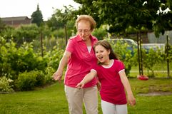 Grandparent with grandchild Royalty Free Stock Photography