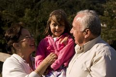 Grandparent and granddaughter Royalty Free Stock Images