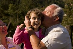 Grandparent and granddaughter Royalty Free Stock Photo