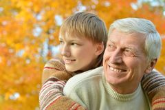Grandparent and kid Royalty Free Stock Image