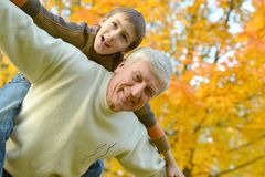 Grandparent and kid Stock Photos