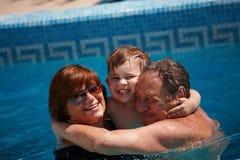 grandparents внучат Стоковое Фото