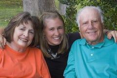 grandparents внучки она Стоковое Изображение