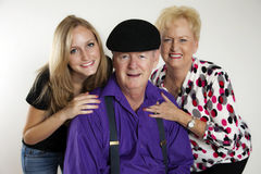 Grandparents. A family generation portrait with grandparents and granddaughter royalty free stock image