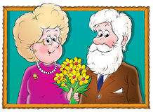 Grandparents. Illustration for children. A series Baby Stock Photo