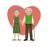 grandparents illustrazione vettoriale