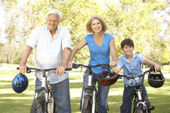 Free Grandparents And Grandson On Cycle Ride Stock Image - 11502071