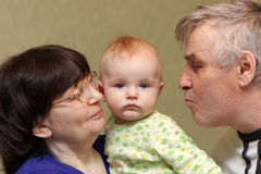 Grandparents with baby Royalty Free Stock Photography