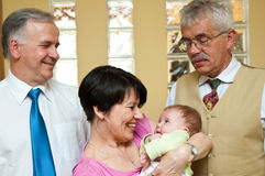 Grandparents with baby girl Royalty Free Stock Photo
