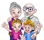 Grandparents and Children Royalty Free Stock Photography
